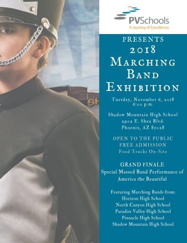 2018 PVUSD Marching Exhibition
