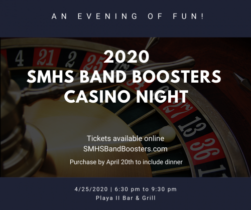 SMHS Band Boosters 2020 Casino Night