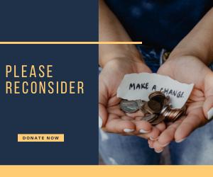 Reconsider Donating